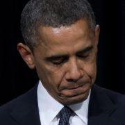 US-Präsident Barack Obama spricht auf der Trauerfeier für die Opfer des Amoklaufs in Newtown.