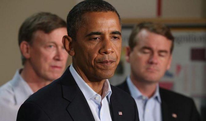 US-Präsident Obama: «Ich hatte Gelegenheit, einige Umarmungen zu schenken und Tränen zu vergießen.» (Foto)