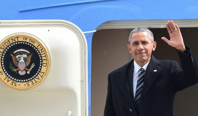 US-Präsident Obama ist am Sonntagmittag in Hannover gelandet. (Foto)