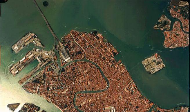 Venedig Satellitenaufnahme  (Foto)