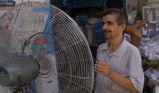 Ventilatoren auf der Straße sollen Kühlung bringen. (Foto)