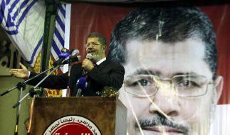 Verbietet sich jede Art von Kritik: Ägyptens neuer Präsident Mohammed Mursi. (Foto)