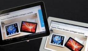 Verdächtig ähnlich? Tablet-Computer von Apple (rechts) und Samsung. (Foto)