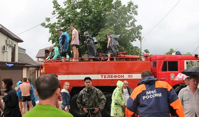 Verheerende Überschwemmungen in Südrussland (Foto)