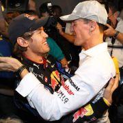 Sebastian Vettel gedenkt Schumi nach seinem Sieg bei den Race of Champions (Foto)