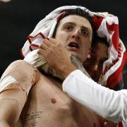 ZdravkoKuzmanovic feierte seinen Treffer zum 2:0.