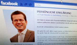 Viele Facebook-Mitglieder wollen Guttenberg zurück (Foto)