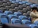 Viele freie Sitze sieht man in den Londoner Olympia-Arenen. (Foto)
