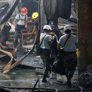 Viele Tote nach Feuer in Schuhfabrik auf den Philippinen (Foto)