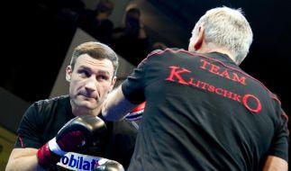«Vitali ist ein Jahrhundertmensch»: Fritz Sdunek beim Pressetraining mit Vitali Klitschko. (Foto)