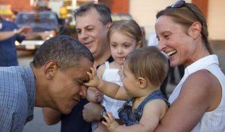 Volksnah: Barack Obama auf Wahlkampftour in Iowa. (Foto)