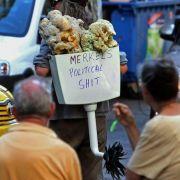 Volkszorn in den Straßen Athens: Am Tag des Besuchs von Merkel ist eine dreistündige Arbeitsniederlegung geplant.