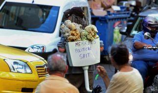 Volkszorn in den Straßen Athens: Am Tag des Besuchs von Merkel ist eine dreistündige Arbeitsniederlegung geplant. (Foto)