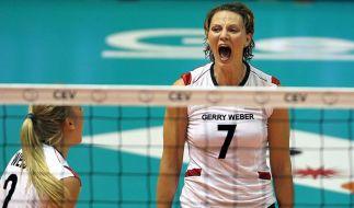 Volleyball-Frauen besiegen Kroatien mit 3:0 (Foto)
