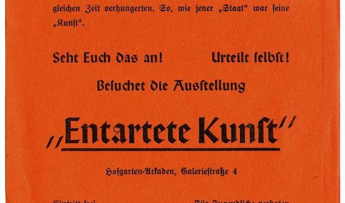 Vor 75 Jahren startete die Schau «Entartete Kunst» (Foto)
