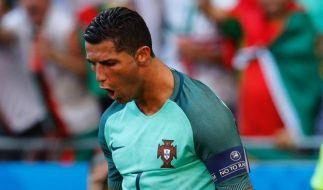 Vor allem in einem ist Ronaldo ganz groß: im Jubeln! (Foto)