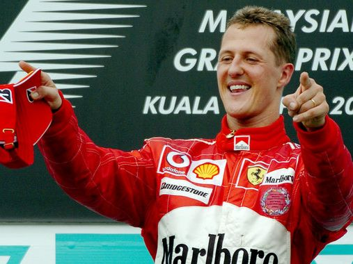 michael schumacher mit wm jubil um als schumi seinen. Black Bedroom Furniture Sets. Home Design Ideas