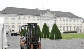 Vorbereitungen fuer das Sommerfest des Bundespraesidenten (Foto)