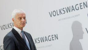 VW-Vorstandsvorsitzender Matthias Müller bei der Pressekonferenz am Donnerstag. (Foto)