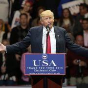 Während der ersten Rede seiner Dankes-Tour gab sich der künftige US-Präsident Donald Trump einmal mehr von seiner altbekannten Seite. (Foto)