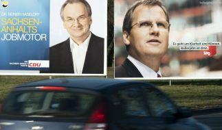 Wahlplakate zur Landtagswahl in Sachsen-Anhalt (Foto)