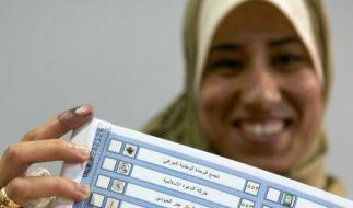 Wahlzettel für die irakische Parlamentswahl (Foto)