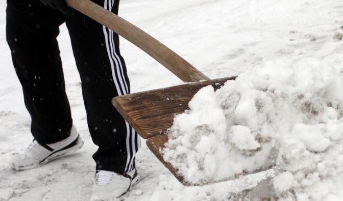 Wann Schnee geschoben werden muss (Foto)