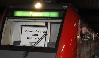 Warnstreik der Lokführer (Foto)