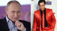 """Was ist denn da passiert? Fotos im Internet zeigten den Sänger der Band """"Rammstein"""", Till Lindemann (rechts), mit einem T-Shirt des russischen Präsidenten Wladimir Putin. (Foto)"""