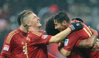 Was für eine Meisterleistung: Die Bayern bereiten dem Hamburger SV die schmerzhafteste Niederlage der Vereinsgeschichte. (Foto)