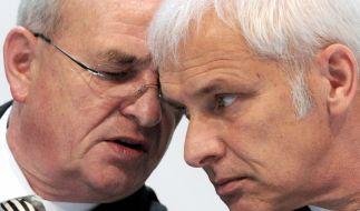 Was wussten Martin Winterkorn (links) und Matthias Müller, und vor allem, wann? (Foto)