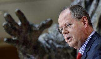 Was verdient Peer Steinbrück zusätzlich? Einen Blick auf die Steuererklärung will er nicht zulassen. (Foto)