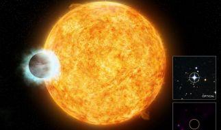 Wasp-18b ist direkter Nachbar eines Sterns - Leben unmöglich. (Foto)