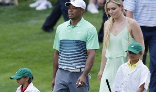 We are Family: Tiger Woods mit Freundin Lindsey Vonn und seinen Kindern auf dem Golfplatz. (Foto)
