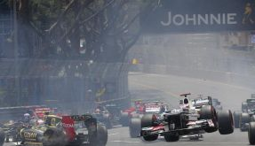 Webber triumphiert bei Glamour-Grand-Prix, Kamui Kobayashi verliert in Monaco den Bodenkontakt. (Foto)