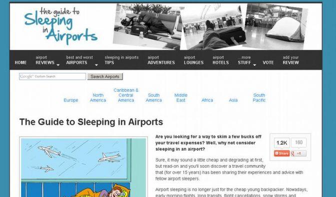 Website gibt Tipps für eine Nacht am Flughafen (Foto)