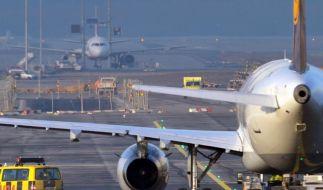 Weiter Streik am Flughafen Frankfurt. (Foto)