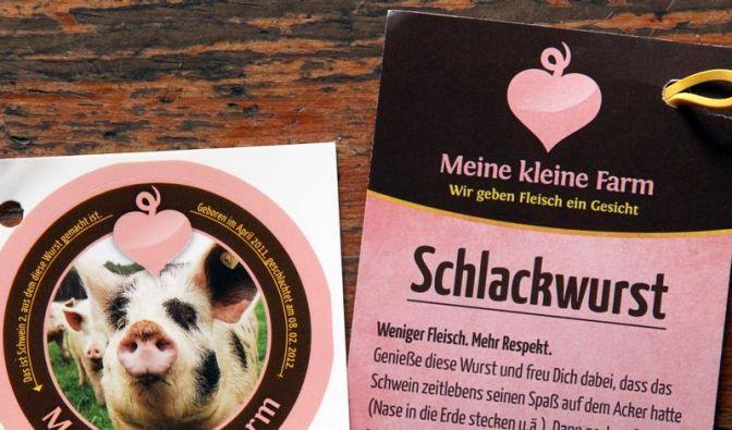 Welches Schweinchen darf es sein? - Wurst mit Tierfoto (Foto)