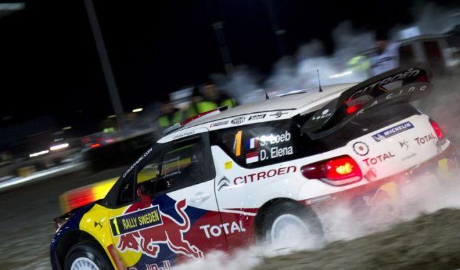Weltmeister Loeb fällt in Schweden zurück (Foto)