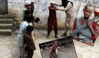 Weltweit werden hunderttausende Kinder zum Töten gezwungen. (Foto)