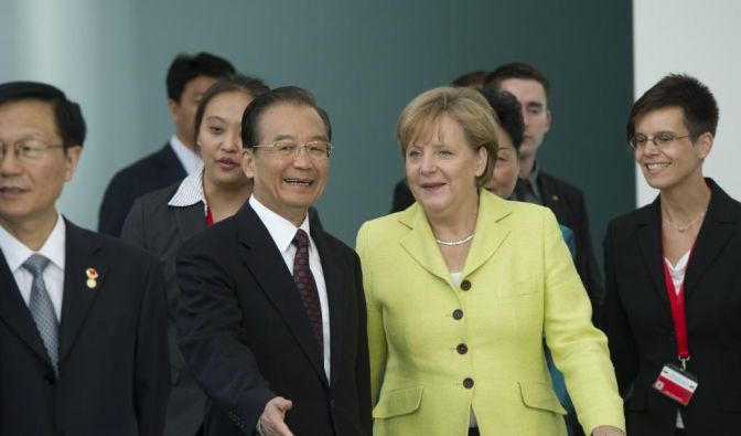 Wen Jiabao im Bundeskanzleramt (Foto)