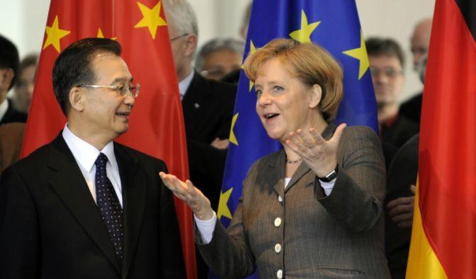 Wen Jiabao und Angela Merkel (Foto)