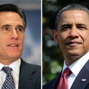 Wer kann Amerika aus der Krise führen: Präsident Barack Obama (rechts) oder Herausforderer Mitt Romney?