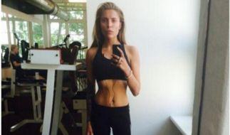 Wespentaille und dürre Beinchen: So zeigt sich Sophia Thomalla beim Training. (Foto)