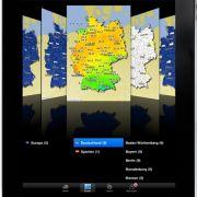 Apps gibt es für jede smarte Hardware - hier ein Beispiel einer Wetter-App von wetter.com fürs iPad.