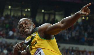 Wie ein Pfeil zu Gold: Olympiasieger Usain Bolt. (Foto)