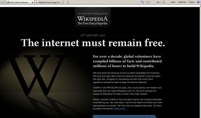 Wikipedia geht aus Protest offline (Foto)