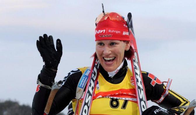 Wilhelm erneut Biathlon-Weltmeisterin (Foto)