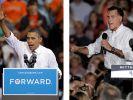 Wird Mitt Romney (rechts) in den TV-Duellen Punkte auf Präsident Barack Obama gut machen können? (Foto)