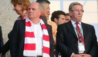 Wird Uli Hoeneß (links) noch einmal FC-Bayern-Präsident? (Foto)